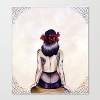 pinup Canvas Prints featuring Pinup. by Anya K