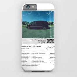 Kendrick Lamar - good kid, m.A.A.d city (Deluxe) - Album Art iPhone Case