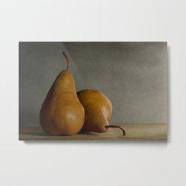 Brown Pears Metal Print