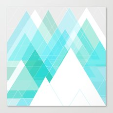 Icy Grey Mountains Canvas Print