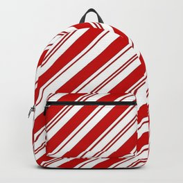 winter holiday xmas red white striped peppermint candy cane Backpack
