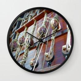 Rigging on El Galeon Wall Clock