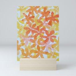 FLOWER POWER --ORANGE Mini Art Print