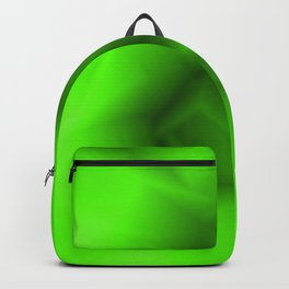 Bright lines of green funnels with a voluminous gap. Backpack