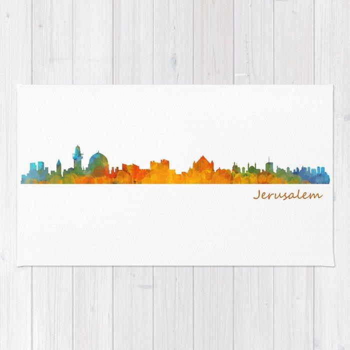 Jerusalem City Skyline Hq v1 Rug