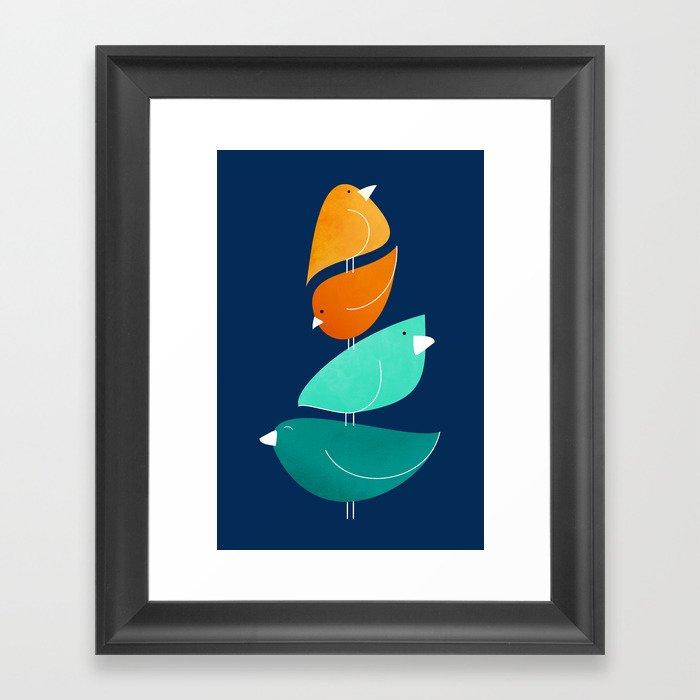 Bird Stack III Gerahmter Kunstdruck