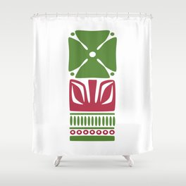 Nordic Green Flower Shower Curtain