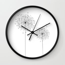 Two  Dandelion Wall Clock