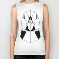 puffin Biker Tanks featuring Polygon Puffin by Beard and Bones