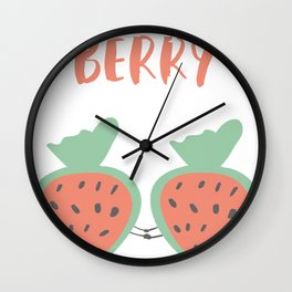 Valentine   I Love You Berry Much Wall Clock