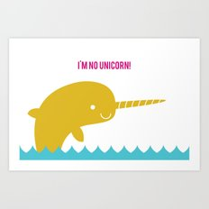 Hello Narwhal Art Print