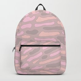 Organic Abstract Cappuccino Neutral Backpack