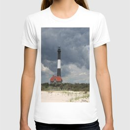 Dramatic Sky Over Fire Island Light T-shirt
