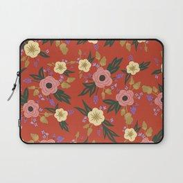 Vermillion Floral Laptop Sleeve