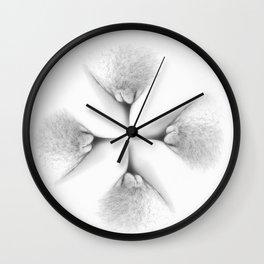 Abstract Vagina 2 Wall Clock