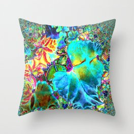 Inverted/Solarized Abstract 2 Throw Pillow