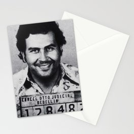 Pablo Escobar Mug Shot 1991 Vertical Stationery Cards
