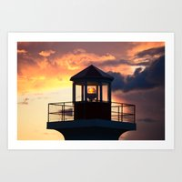 Head light Art Print