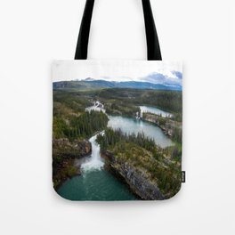 Monkman Cascades Tote Bag