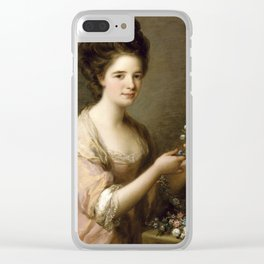 Angelica Kauffmann - Portrait Of Eleanor, Countess Of Lauderdale Clear iPhone Case