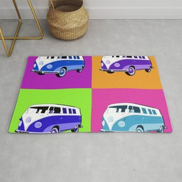 pop art funky car Rug