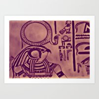 egyptian Art Prints featuring Egyptian (Horus) by Aaron Carberry