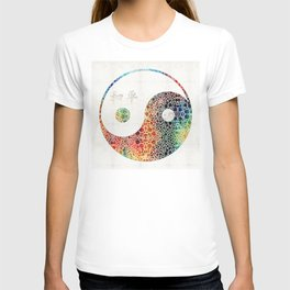 Yin And Yang - Colorful Peace - By Sharon Cummings T-shirt