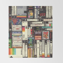 Cassettes, VHS & Games Throw Blanket