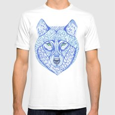 ice wolf White Mens Fitted Tee MEDIUM