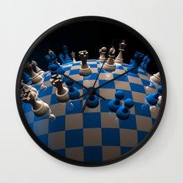 chess fantasy blue Wall Clock
