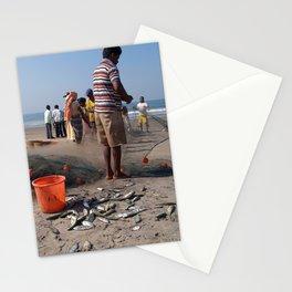 Fishermen Sorting the Catch Arambol Stationery Cards