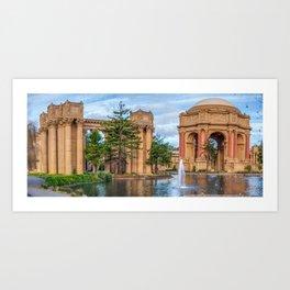 San Francisco Palace of Fine Arts Panorama Art Print