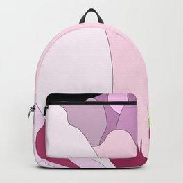 Pink peony closed flower on black background Backpack