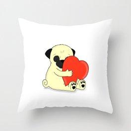 PugHugs Throw Pillow