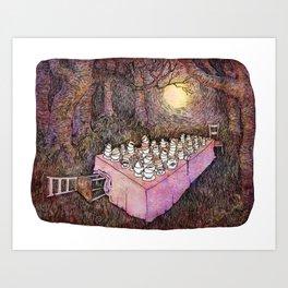 After Tea Art Print