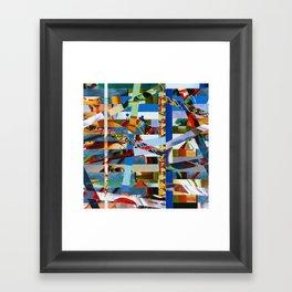 Michael (stripes 9) Framed Art Print