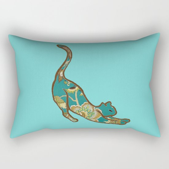 I love you Kitten in Blue-Green Rectangular Pillow