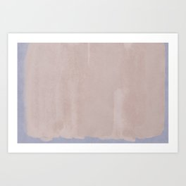Minimal Abstract Pink Colorfield Painting 01 Art Print