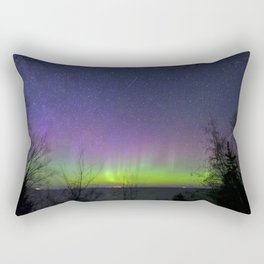 Aurora Borealis over Lake Superior Rectangular Pillow