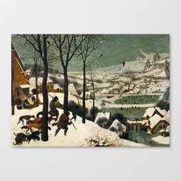 The Hunters in the Snow, Pieter Bruegel the Elder Canvas Print