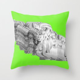 404 Error Green Throw Pillow