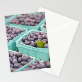 Blueberries at the market Stationery Cards