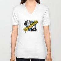 eddie vedder V-neck T-shirts featuring Flo & Eddie by mazigazi