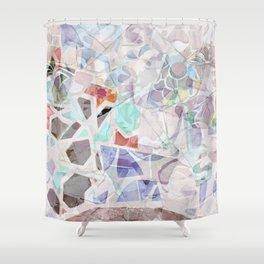 Mosaic of Barcelona V Shower Curtain