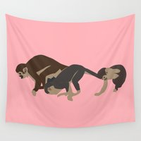 arctic monkeys Wall Tapestries featuring monkeys by Design4u Studio
