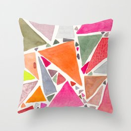 pink 6 de pique - SIX of spades Throw Pillow