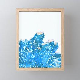 Blue Crystal  Framed Mini Art Print