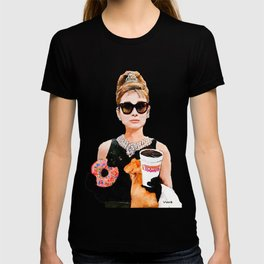 Breakfast at Dunkin Donuts - Audrey Hepburn T-shirt