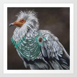 Necrophagy: Egyptian Vulture Art Print
