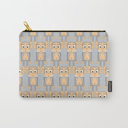 Super cute animals - Cheeky Grey Silver Monkey Carry-All Pouch